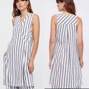NWT Free People Striped Wrap Sleeveless Dress